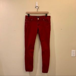 Cranberry Red Express Skinny Pants